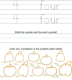 Pre made math worksheets for kids addition trace number and word math worksheet samplenumber 4 ibookread PDF