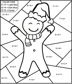 Math WorkSheets Christmas Theme